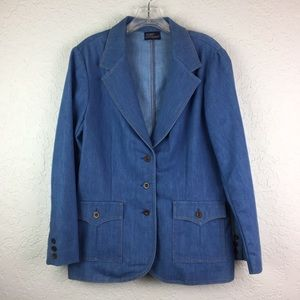 Vintage Koret Blues denim blazer EUC women's